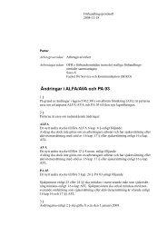 Ändringar i ALFA/AVA och PA 03 - Arbetsgivarverket