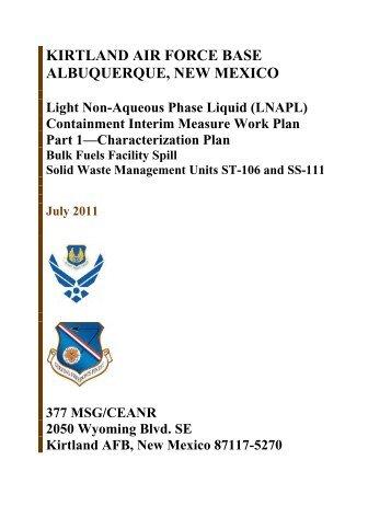 LNAPL Containment Interim Measure Work Plan - Kirtland Air Force ...