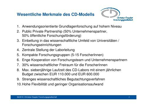 Christian Doppler Forschungsgesellschaft - ZIT