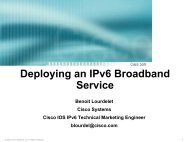 Cisco IOS Case Study for IPv6 Broadband Services