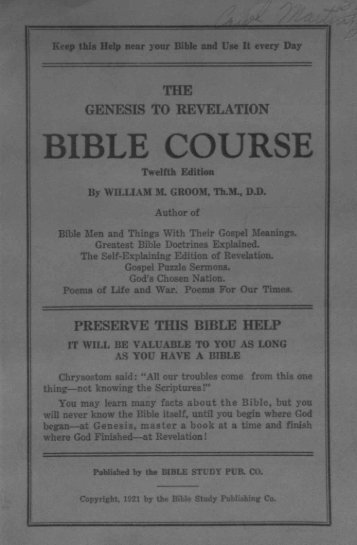 the bible - Holy Bible Institute