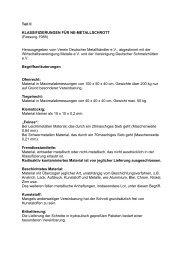 Teil II KLASSIFIZIERUNGEN FÜR NE-METALLSCHROTT (Fassung ...