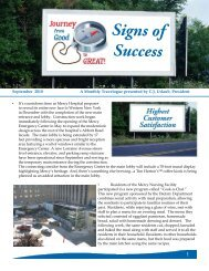 Signs of Success - Catholic Health System