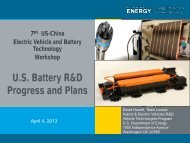 Update on US DOE Electric Drive Vehicle R&D and ... - BESTAR