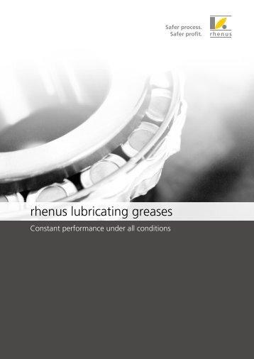 rhenus lubricating greases
