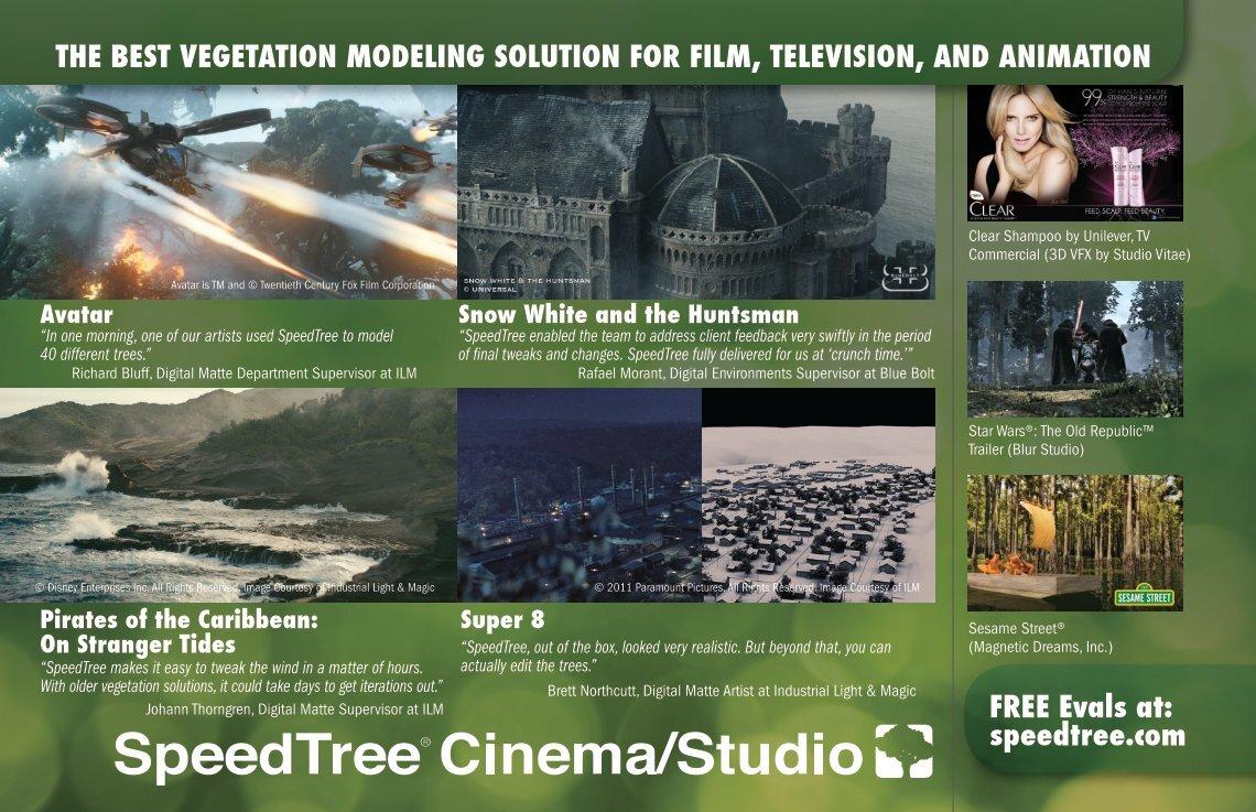 3 free Magazines from SPEEDTREE COM
