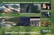 Cinema-Studio Brochure - SpeedTree