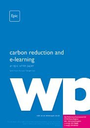 carbon reduction and e-learning
