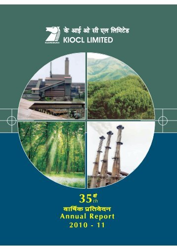 Download the Annual Report for 2010-11. - kiocl limited