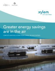 Sanitaire Aeration Energy Savings flyer - Water Solutions