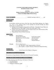 September 24, 2012 - Clinton Township School District