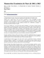 Manuscritos Econômicos de Marx - histedbr