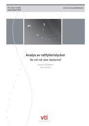Analys av rattfylleriolyckor - var och när sker olyckorna - VTI