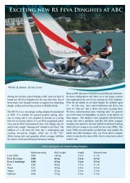 Exciting new RS Feva Dinghies at ABC - the Aberdeen Boat Club