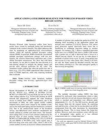 application-layer error resilience for wireless ip-based video ...