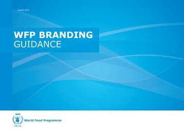 WFP Branding Guidance_2012 - low resolution - WFP Remote ...
