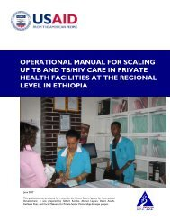 OPERATIONAL MANUAL FOR SCALING UP TB ... - (SHOPS) project