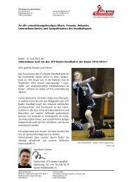 Marketing, Tel. +41 79 238 19 77 - STV Baden Handball