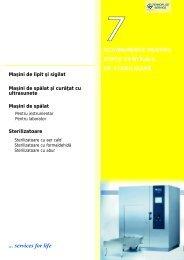 7. Echipamente pentru statii centrale de sterilizare