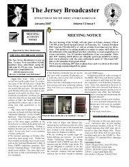 Volume 13 Issue 1 - The New Jersey Antique Radio Club