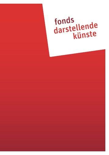 Broschüre Fonds Darstellende Künste - Bund der Theatergemeinden