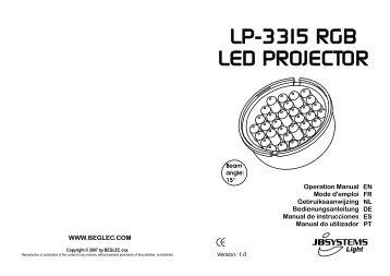 lp-3315 rgb led projector - Electronique Diffusion