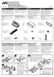 KD-G202/KD-G201 Manual de instalación/conexión Manuale d ... - Jvc