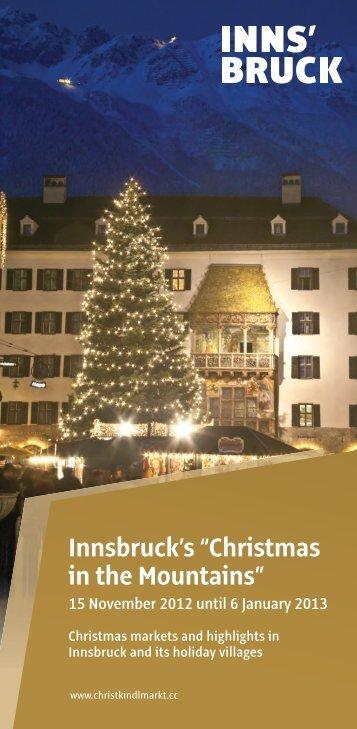 """Innsbruck's """"Christmas in the Mountains"""" - Christkindlmarkt Innsbruck"""