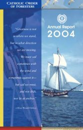 2004 Annual Report - Catholic Order of Foresters