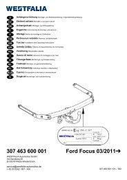 307 463 600 001 Ford Focus 03/2011