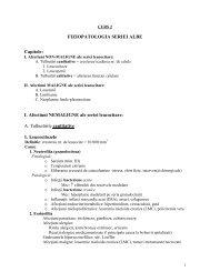 patologia seriei leucocitare