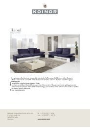 KOINOR - SOFAS: Raoul - Design Lounge by Hinke