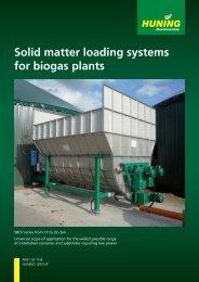 Solid matter loading systems for biogas plants - Huning Maschinenbau