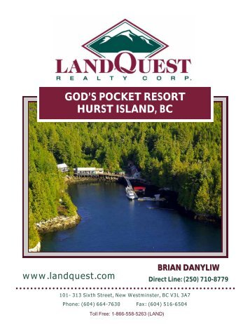 GOD'S POCKET RESORT HURST ISLAND, BC - LandQuest