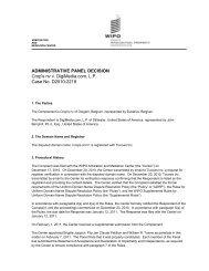 ADMINISTRATIVE PANEL DECISION Crop's nv v. DigiMedia.com, LP