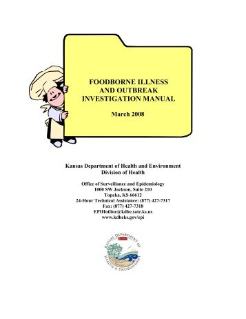 KDHE Foodborne Illness and Outbreak Investigation Manual