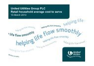 Retail household average cost to serve - About United Utilities