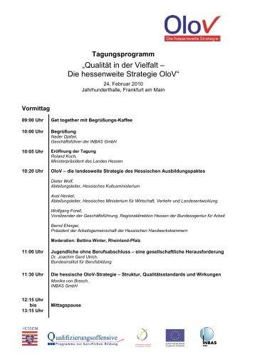 """""""Qualität in der Vielfalt – Die hessenweite Strategie OloV"""""""