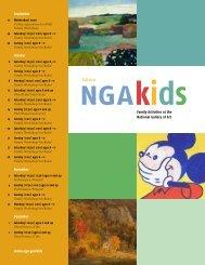 NGAkids Fall 2012 Calendar - National Gallery of Art