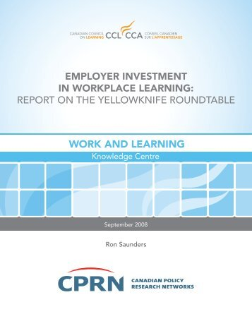 Employer Investment in Workplace Learning - National Adult ...