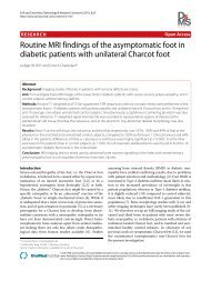 Routine MRI findings of the asymptomatic foot in diabetic patients ...