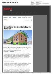 Großauftrag für Rhomberg Bau im Montafon - Rhomberg Bau GmbH
