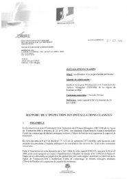rapport de l'inspection des installations classees - Le Renard