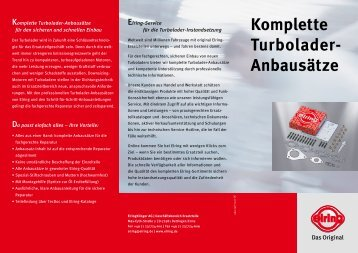 "Elring-Flyer ""Komplette Turbolader-Anbausätze"" - MS Motor Service ..."