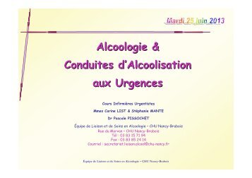 Alcoologie-Dr PISSOCHET- - COLMU
