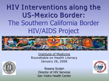 Southern California Border HIV/AIDS Project - Institute of Medicine