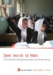 Dove inizia la Pace - Save the Children Italia Onlus