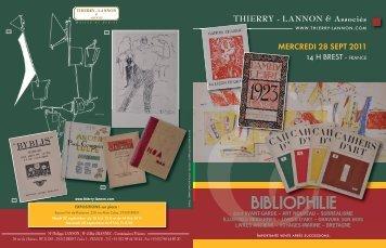 BIBLIOPHILIE - Thierry, Lannon et associés