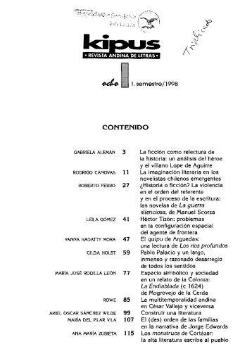 1. semestre/l998 - Repositorio UASB-Digital - Universidad Andina ...