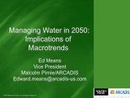 Managing Water in 2050: Implications of Macrotrends
